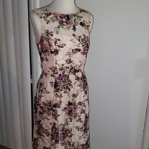 Adriana Pappell light pink floral dress